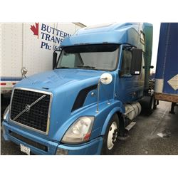 2012 VOLVO ISX 400 T/A TRUCK TRACTOR, NEW STEERING PUMP, MOTOR REBUILT, NEW TIRES,
