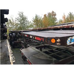 1999 RAJA 40' SUPER CHASSIS CONTAINER TRAILER TRIDEM AXLE W/LIFT AXLE, HEAVY HAUL WITH WORK DECK