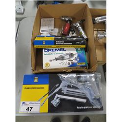 POWERFIST COMBINATION GREASE GUN/AIRBODY SAW/DREMEL ROTARY TOOL/AIR NIBBLER/ETC