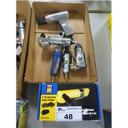 "POWERFIST 4"" AIR OPERATED ANGLE GRINDER/MISC AIR TOOLS"