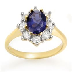 1.75 CTW Kaynite & Diamond Ring 14K Yellow Gold - REF-95W8H - 10606