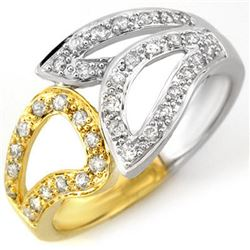 0.33 CTW Certified VS/SI Diamond Ring 10K 2-Tone Gold - REF-35M6F - 10778