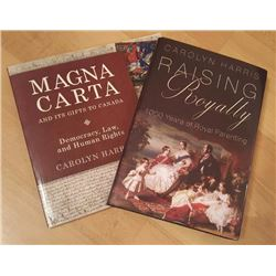 Signed book package by Carolyn Harris.