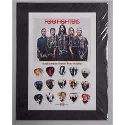 Foo Fights Gold Edition Guitar Pick Display Limited Edition/100. 11x14'.
