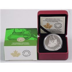 RCM - $20.00 9.9 Fine Silver Coin. The Canadian Home Front Canada's First Submarines During the Firs