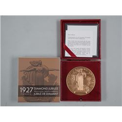 1927 Diamond Jubilee of Confederation Bronze Medal, 2017 Restrike Limited Edition w/Case.