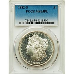 1882-S $1 Morgan Silver Dollar Coin PCGS MS65PL