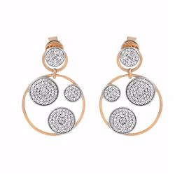 14KT Two Tone Rose Gold 1.10ctw Diamond Earrings