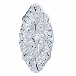 18KT White Gold 0.52ctw Diamond Brooch