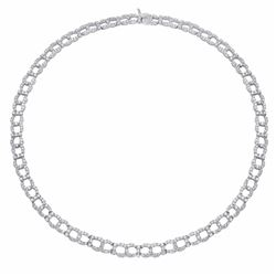 18KT White Gold 10.46ctw Diamond Necklace