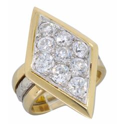 14KT Two Tone Gold 1.00ctw Diamond Ring