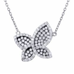 18KT White Gold 0.73ctw Diamond Pendant with Chain
