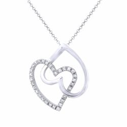 14KT White Gold 0.27ctw Diamond Pendant with Chain