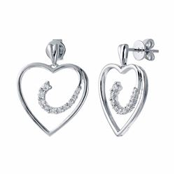 14KT White Gold 0.43ctw Diamond Earrings