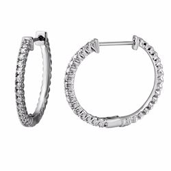 14KT White Gold 0.59ctw Diamond Earrings