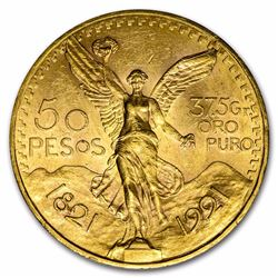 1921 Mexico 50 Pesos Gold Coin