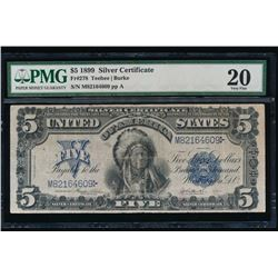 1899 $5 Chief Silver Certificate PMG 20