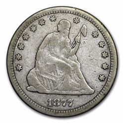 1877-CC Seated Liberty Quarter Coin