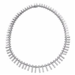 14KT White Gold 6.36ctw Diamond Necklace