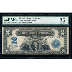 1899 $2 Washington Silver Certificate PMG 25