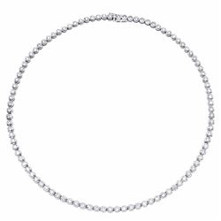 14KT White Gold 9.57ctw Diamond Necklace