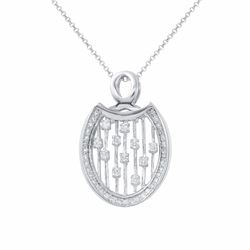 18KT White Gold 0.47ctw Diamond Pendant with Chain
