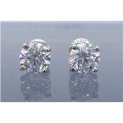 Platinum 2.07ctw Diamond Stud Earrings