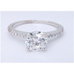 Platinum 1.08ctw Diamond Ring
