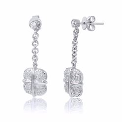 18KT White Gold 0.51ctw Diamond Earrings