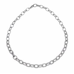 14KT White Gold 6.13ctw Diamond Necklace
