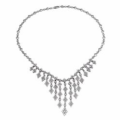 14KT White Gold 9.65ctw Diamond Necklace