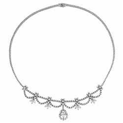 14KT White Gold 5.49ctw Diamond Necklace