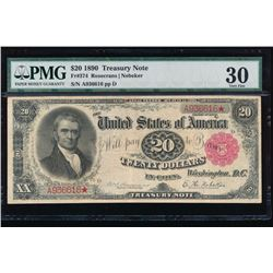 1890 $20 Treasury Note PMG 30