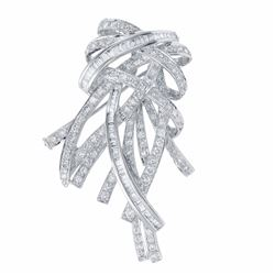 18KT White Gold 2.98ctw Diamond Brooch