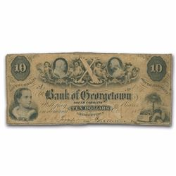 1854 $10 Bank of Georgetown Note