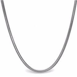 Sterling Silver Classic Round Snake Necklace
