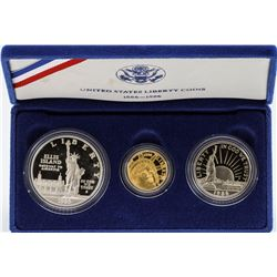 Set of (3) 1986 United States Liberty Coins