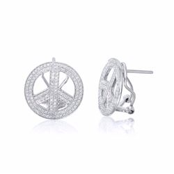 14KT White Gold 0.84ctw Diamond Earrings