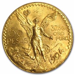1924 Mexico 50 Peso Gold Coin