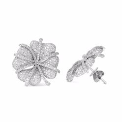 14KT White Gold 4.73ctw Diamond Earrings