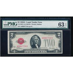1928A $2 Legal Tender Note PMG 63EPQ