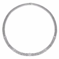 14KT White Gold 3.03ctw Diamond Necklace
