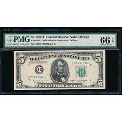 1950D $5 Chicago Federal Reserve Note PMG 66EPQ