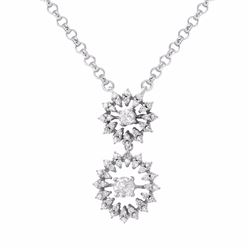 14KT White Gold 0.91ctw Diamond Pendant with Chain