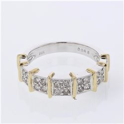 14KT Two Tone Gold 0.45ctw Diamond Ring