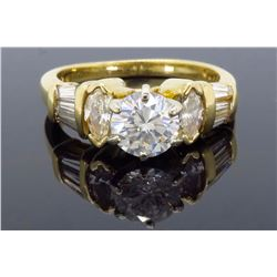 14KT Yellow Gold 1.31ctw Diamond Ring