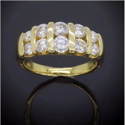 18KT Yellow Gold 1.12ctw Diamond Ring