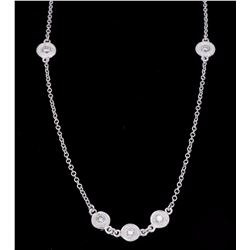 14KT White Gold 0.78ctw Diamond Pendant with Chain