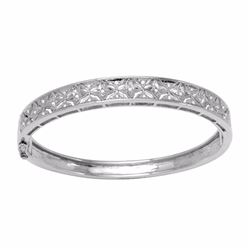 18KT White Gold 0.34ctw Diamond Bracelet