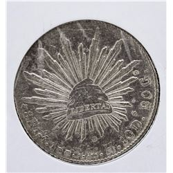 1883 8 Reales Silver Coin